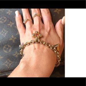 LOUIS VUITTON Love Letters Bracelet EC NW